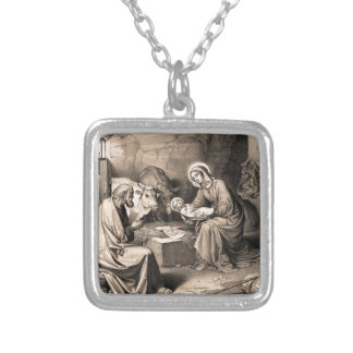 The birth of Christ Silver Plated Necklace
