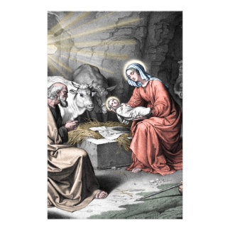 The birth of Christ Stationery