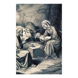 The birth of Christ Stationery