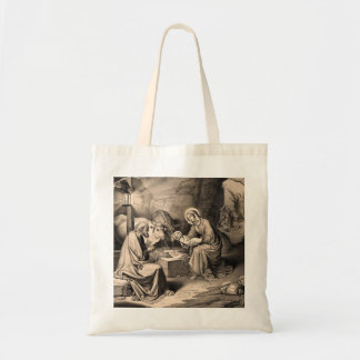 The birth of Christ Tote Bag
