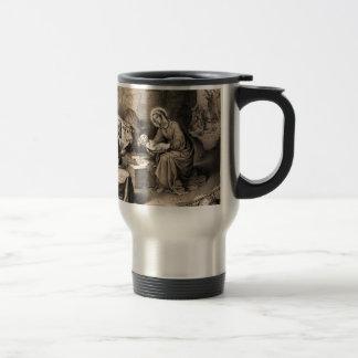 The birth of Christ Travel Mug