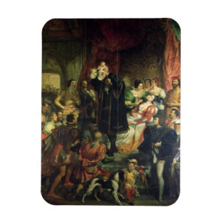 The Birth of Henri IV (1553-1610) at the castle of Rectangular Photo Magnet