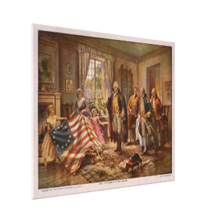 The Birth of Old Glory by Edward Percy Moran Canvas Print