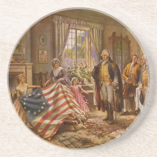 The Birth of Old Glory by Percy Moran Beverage Coaster