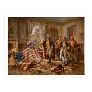 The Birth of Old Glory by Percy Moran c1917 Post Cards