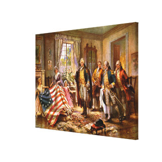 The Birth Of Old Glory - Circa 1917 Stretched Canvas Prints