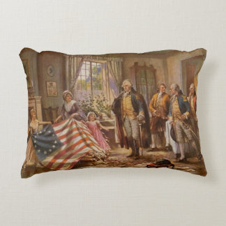 The Birth of Old Glory Decorative Cushion