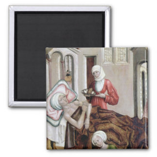The Birth of St. John the Baptist Square Magnet