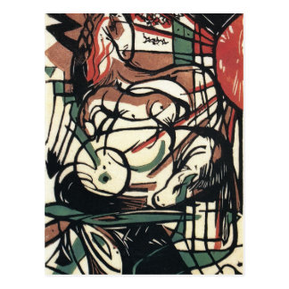 The Birth of the Horse by Franz Marc Postcard