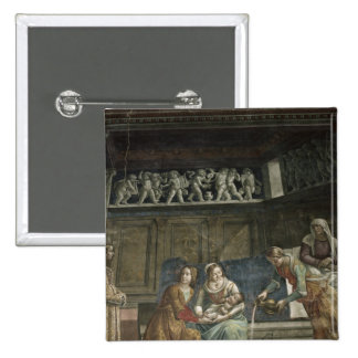 The Birth of the Virgin, 1485-90 15 Cm Square Badge