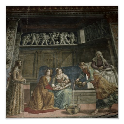 The Birth of the Virgin, 1485-90 Posters