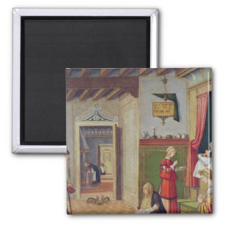 The Birth of the Virgin, 1504-08 Square Magnet