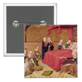 The Birth of the Virgin 15 Cm Square Badge