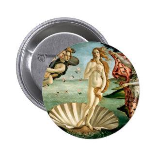 The Birth of Venus by Botticelli 6 Cm Round Badge