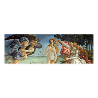The Birth of Venus by Botticelli, Renaissance Art Double-Sided Mini Business Cards (Pack Of 20)