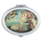 The Birth of Venus - Classic Art by Botticelli Compact Mirror