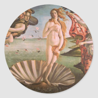 The Birth of Venus Classic Round Sticker