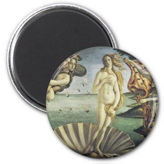 The Birth of Venus 6 Cm Round Magnet