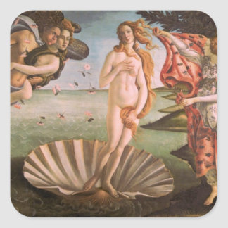The Birth of Venus Square Sticker