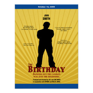 The Birthday Movie Poster (Boy)