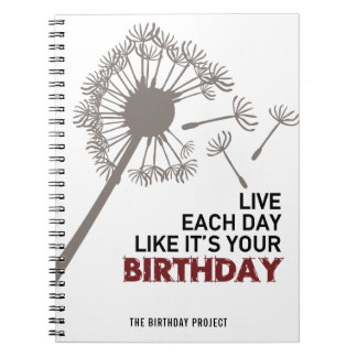 The Birthday Project Big Dandelion Spiral Notebook