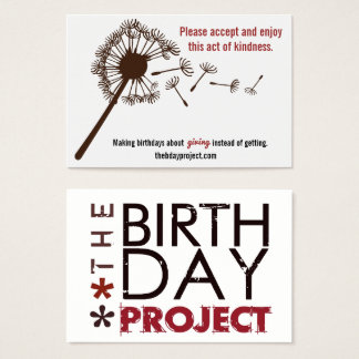 The Birthday Project Leave-Behind Cards