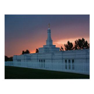 The Bismarck North Dakota LDS Temple Postcard