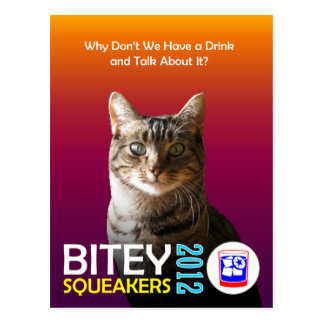The Bitey/Squeakers Ticket (TM) Postcard 1