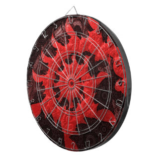 The Black and Red Spiral Kiss of a Scorpion Dartboard