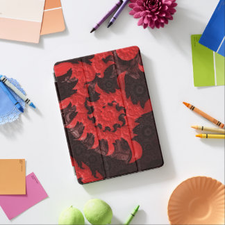 The Black and Red Spiral Kiss of a Scorpion iPad Pro Cover