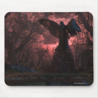 The Black Angel Mousepad