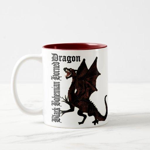 The Black Bohemian Horned Dragon Mug