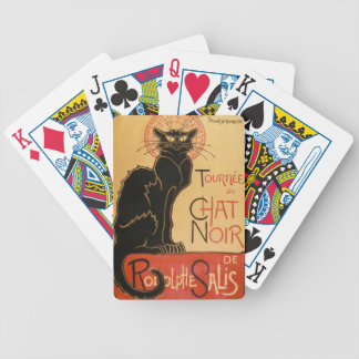"""""""The Black Cat"""" Le Chat Noir Bicycle Playing Cards"""