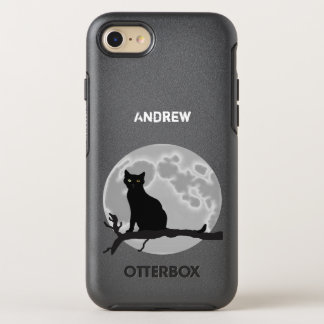 The black cat OtterBox symmetry iPhone 8/7 case