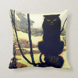 The Black Cat Pillow