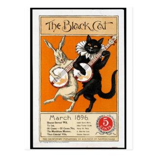 The black cat postcard