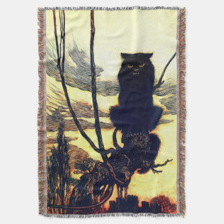 The Black Cat Throw Blanket