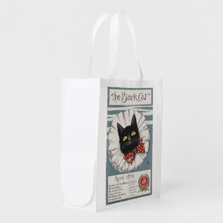 The Black Cat, Unknown artist Reusable Grocery Bag
