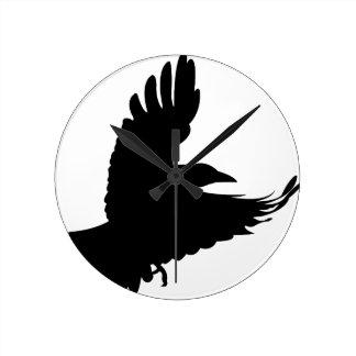 The Black Crow Round Clock