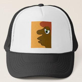 the black dude trucker hat