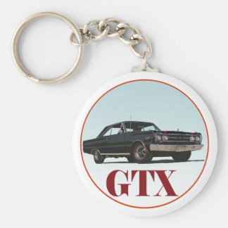 The Black GTX Basic Round Button Key Ring