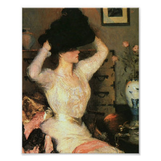 The Black Hat by Frank Weston Benson Fine Arts Poster