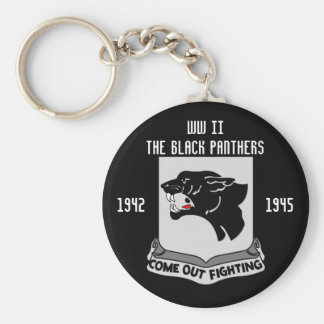 The Black Panther's Basic Round Button Key Ring