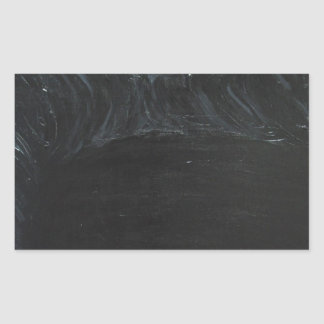 The Black Pond black minimalism Rectangular Stickers
