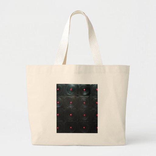 The Black Red Dents ( black minimalism ) Canvas Bag
