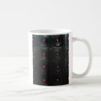 The Black Red Dents ( black minimalism ) Basic White Mug