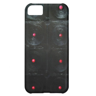 The Black Red Dents black minimalism iPhone 5C Cover