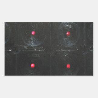 The Black Red Dents black minimalism Stickers