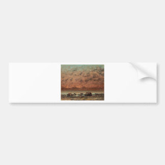 The Black Rocks at Trouville by Gustave Courbet Bumper Sticker