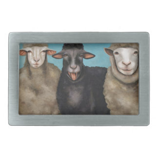 The Black Sheep Rectangular Belt Buckle